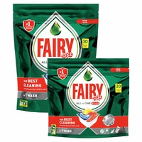 Fairy Dishwasher Detergent Tabltes All in One Plus 30 + 20 Tablets
