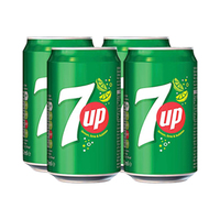 7-Up Soft Drink Can 330ML X4