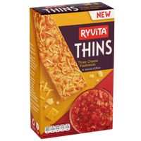 Ryvita Thins Three Cheese Flatbreads 125g