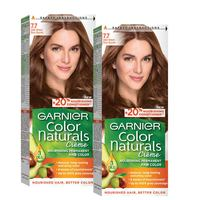 Garnier Color Naturals Creme Hair Color 7.7 Deer Brown Pack of 2