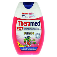 Theramed Junior 2In1 Strawberry Toothpaste And Mouthwash 75ml