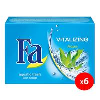 Fa vitalizing aquatic fresh scent bar soap 175 g x 6
