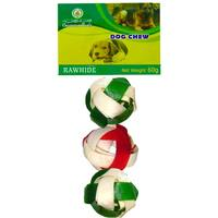 Oasis Rawhide Woven Ball 3 Piece 120g