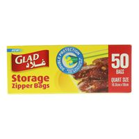 Glad Storage Zipper Bags Pack of 50