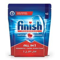 Finish Dishwasher Detergent All in One Tabs Regular 42 Tablet
