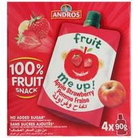 Andros Me Up Apple and Strawberry Pomme Fraise 90g x Pack of 4