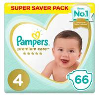Pampers Premium Care Diapers  Size 4  Maxi 8-14 kg Jumbo Pack 66 Count