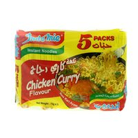 Indomie Chicken Curry Flavoured Instant Noodles 75g x Pack of 5