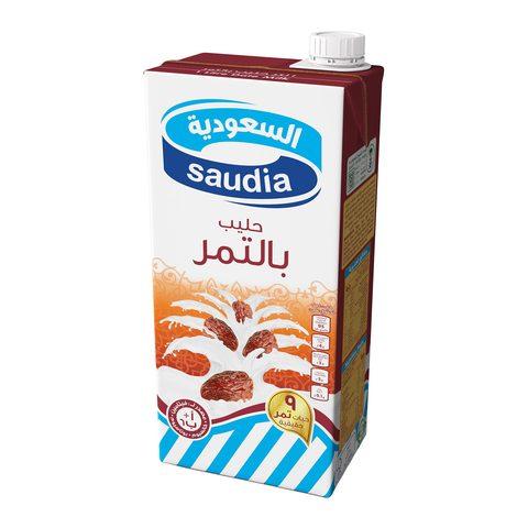 Buy Saudia Long Life Milk With Date 1 L Online Shop Fresh Food On Carrefour Saudi Arabia