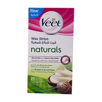 Veet Wax Strips Naturals Strips 20 Strips