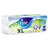 Fine Toilet Tissues Classic White 2 Ply 400 Sheets x Pack of 10
