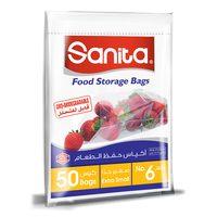 Sanita  Food Storage Bags Biodegradable #6 50 Bags