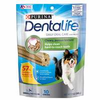 Purina Dentalife Dog Treats Daily Oral Care for Small/Medium Dogs, 20-40 LBS 198g