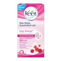 Veet wax strips sensitive 20 pieces