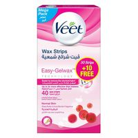 Veet Normal Skin Hair Removal Cold Wax Strips Pack Of 40