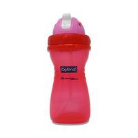 Optimal Silicone Bottle With Straw 400ML