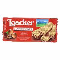 Loacker Napolitaner Hazelnut Cream Crispy Filed Wafer 45g