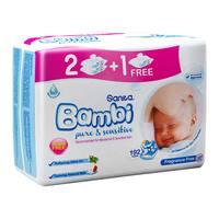 Sanita bambi wipe 64 x 2 + 1 free