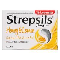 Strepsils Honey And Lemon Dual Antibacterial 36 Tablet