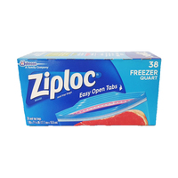 Ziploc Freezer Bags Quart 38 Pieces