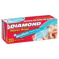 Diamond Zipper Bags Freezer Medium 20 Pieces