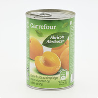 Carrefour half apricot fruit in light syrup 410 g