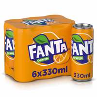 Fanta Orange Soft Drink 330ml x Pack of 6