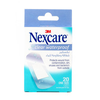 Nexcare Clear Waterproof One Size 20 Bandages