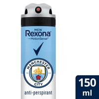 Rexona Men Antiperspirant Deodorant Man City, 150ml