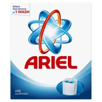 Ariel laundry powder detergent high foam original scent 110 g