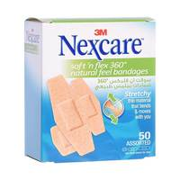 Nexcare Soft n' Flex Bandages 50 Assorted