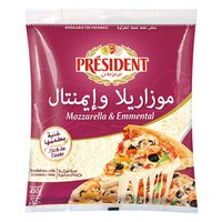 President Mozzarella And Emmental Cheese 450g