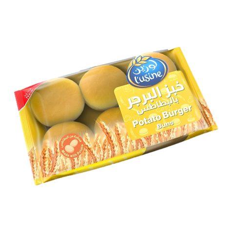 Buy Lusine Burger Buns Potato 6 Pieces Online Shop Bakery On Carrefour Saudi Arabia