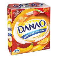 Danao Juice Drink with Milk Orange-Banana & Strawberry 1L x 2 packs