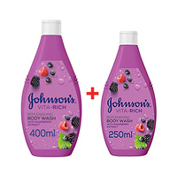 Johnson's Vitarich Shower Gel Replen 400ML + 250ML Free