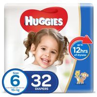 Huggies Baby Diapers Value Pack Size 6 15+kg 32 Counts