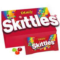 Skittles Fruits Pouch Coated Chewy Candy 38g x Pack of 14