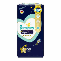 Pampers 4 premium care night diapers 10 - 15 kg x 50
