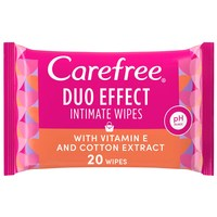 Carefree Vitamin E And Cotton Extract Daily Intimate Wipes 20 Count