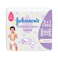 Johnson's Jumbo Wipes Ultimate Clean 48 Sheets 3+1 Free
