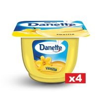 Danette Vanilla Cream Dessert 90g x Pack of 4