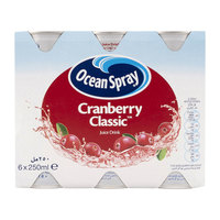 Ocean Spray Cranberry Classic Juice Drink 250ml x Pack of 6
