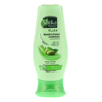 Vatika naturals nourish & protect conditioner with olive , henna , alovera & almond for normal hair 400 ml