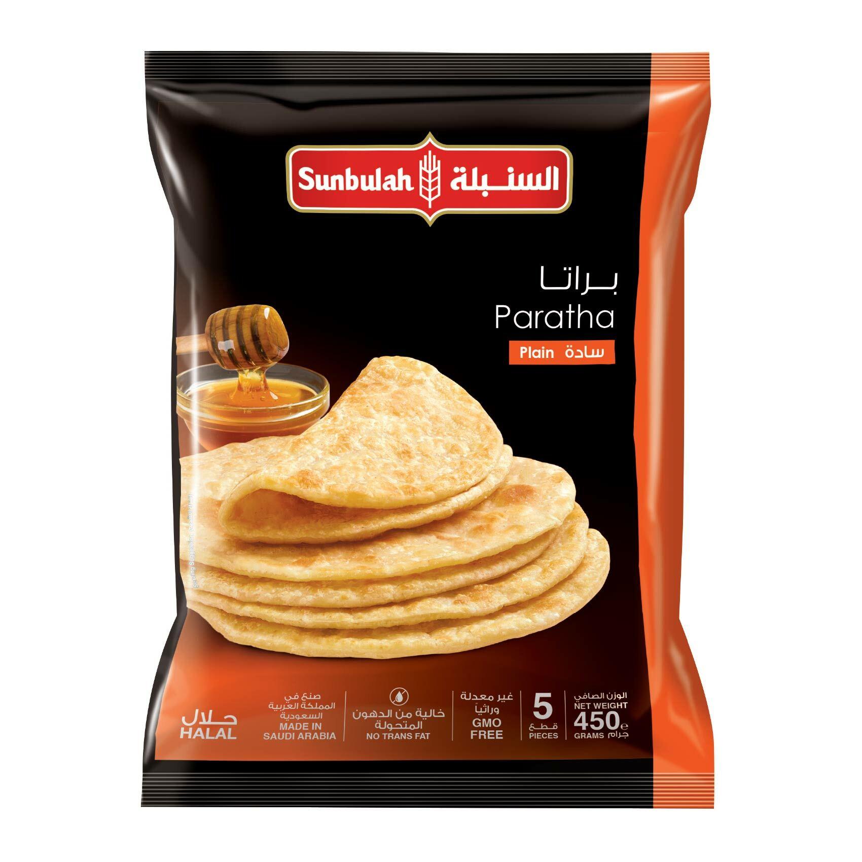 Buy Sunbulah Plain Paratha Bread 400 G Online Shop Frozen Food On Carrefour Saudi Arabia