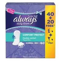 Always Daily Liners Comfort Protect Normal 60 Count