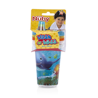 Nuby Wash or Toss Cups With Spout Lid 300ML