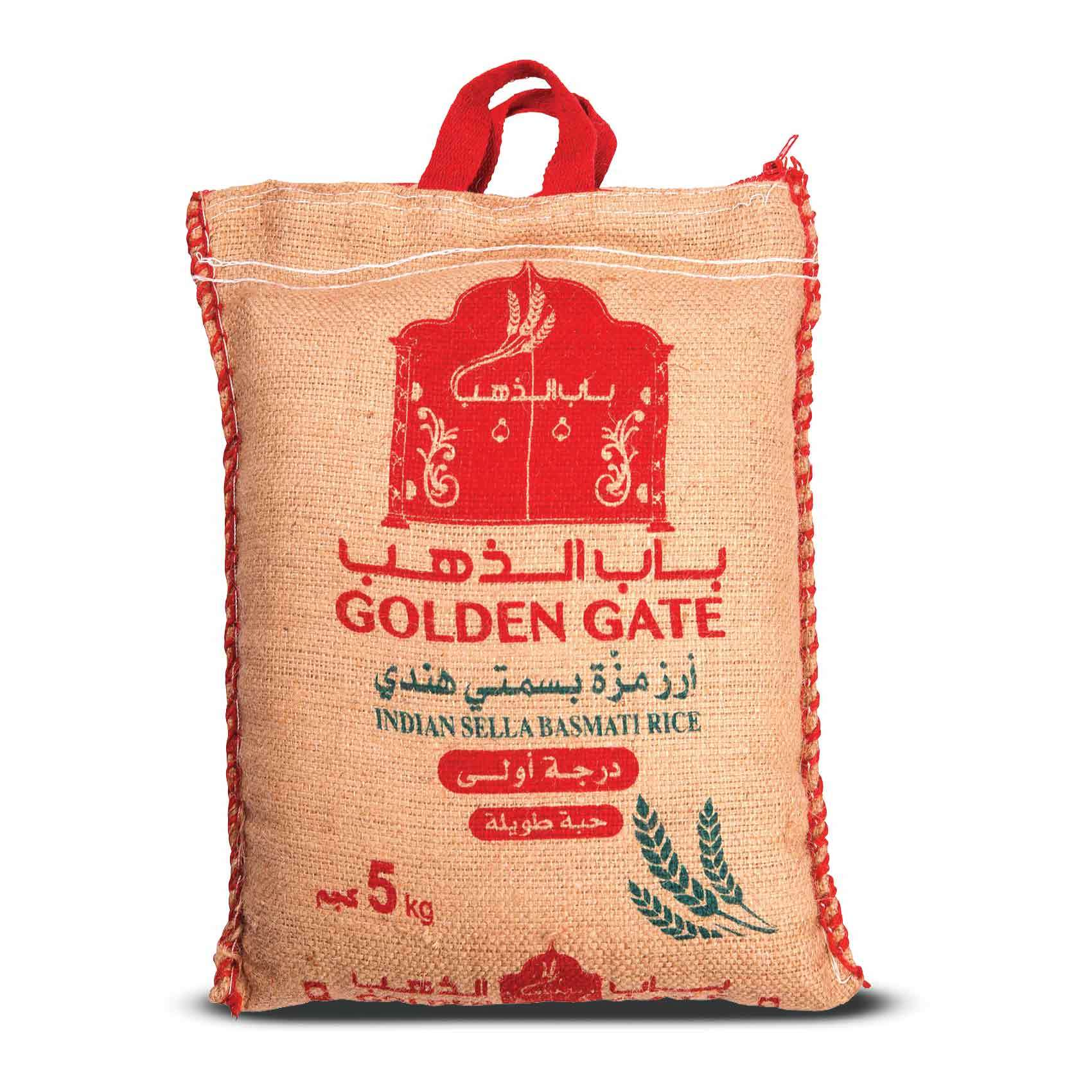 Buy Golden Gate Sella Basmati Rice 5 Kg Online Shop Food Cupboard On Carrefour Saudi Arabia