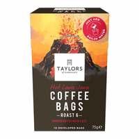 Taylors Hot Lava Java Coffee Bags Roast 6 75g