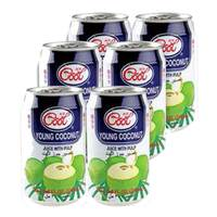 Ice Cool Young Coconut Juice With Pulp 310ml x Pack of 6