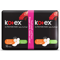 Kotex Ultra Thin Pads Value Pack Super with Wings Pads x Pack of 16